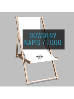 Leżak z napisem lub logo