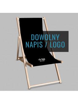 Leżak Black z napisem lub logo