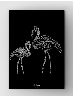Flamingi Outline Black