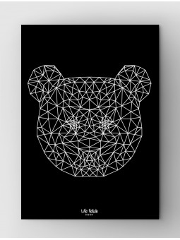 Panda Outline Black
