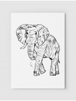 Rysowany słoń