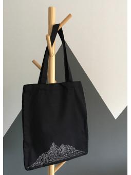 Czarna torba z górami