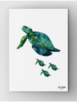 Żółw Wild z dziećmi A4