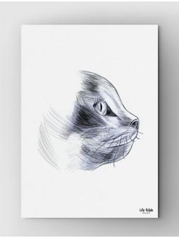 Rysowany kot A4