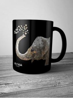 Kubek ze słoniem BLACK