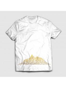 Koszulka ze złotymi górami