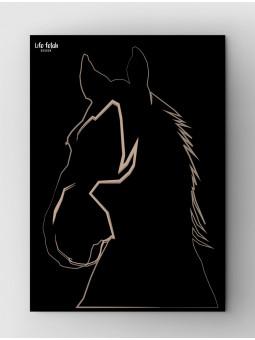 Koń obrys Wild Black