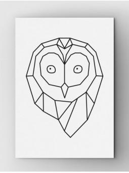 Sowa biała z logo