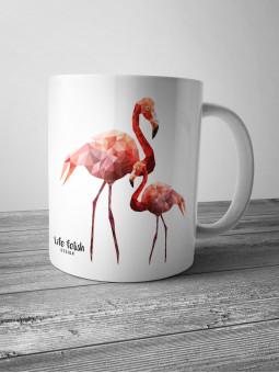 Kubek z flamingami DUŻY
